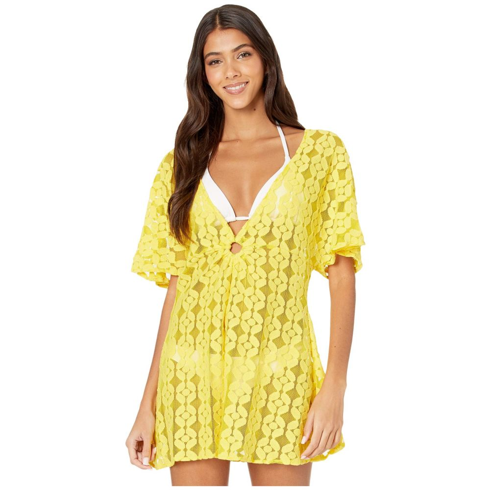 ジェシカシンプソン Jessica Simpson レディース ビーチウェア 水着・ビーチウェア【Nice Lemons O-Ring Cover-Up】Lemon