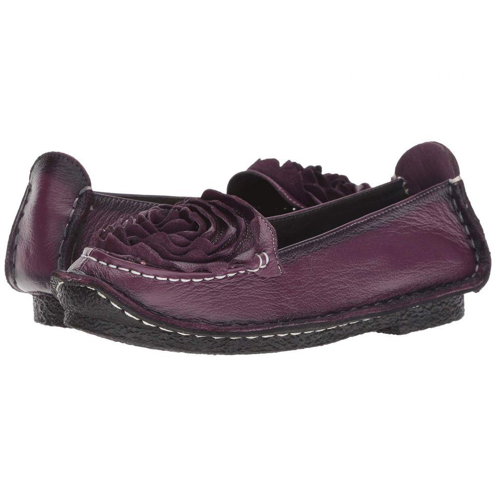 スプリングステップ L'Artiste by Spring Step レディース スリッポン・フラット シューズ・靴【Dezi】Purple