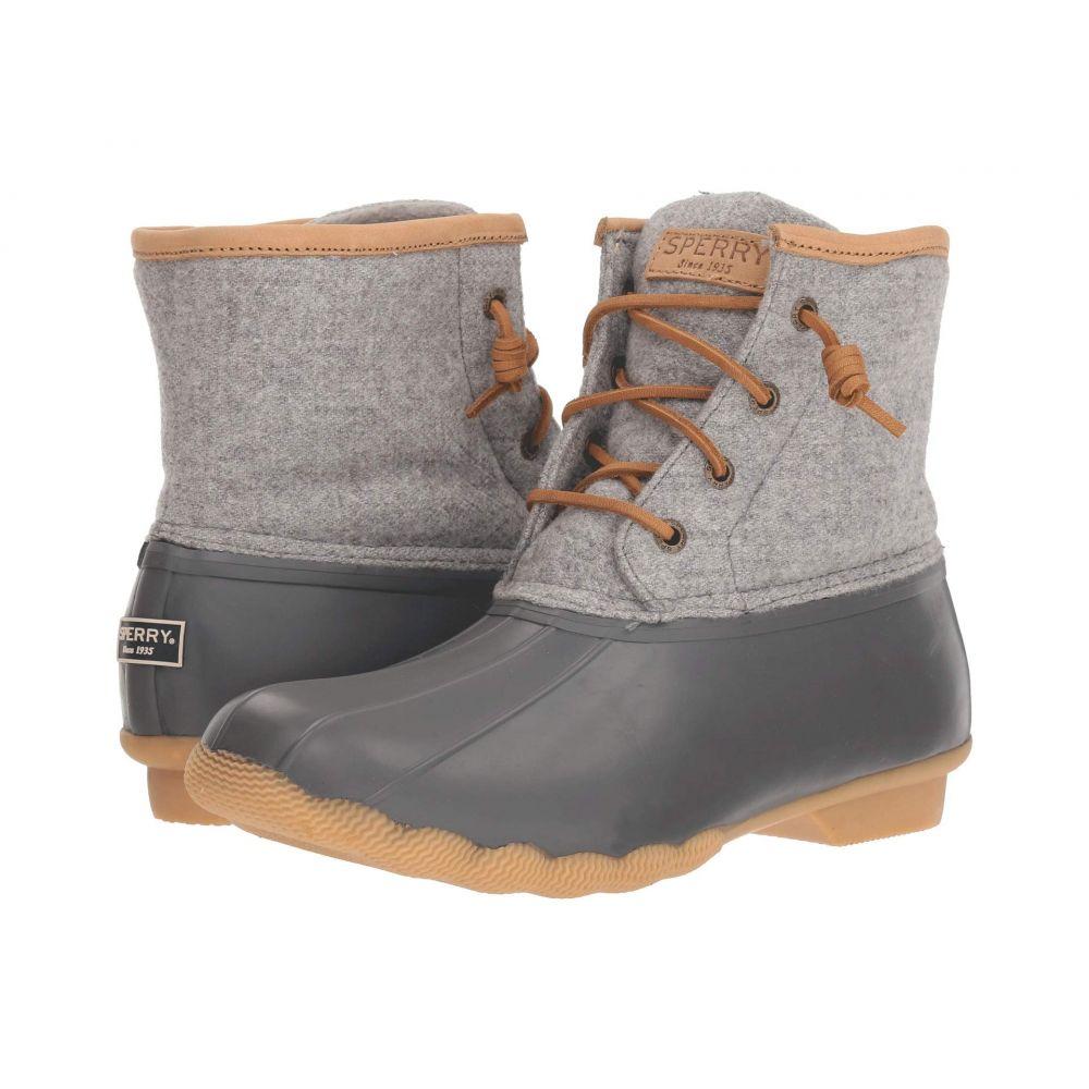 スペリー Sperry レディース ブーツ シューズ・靴【Saltwater Emboss Wool】Dark Grey