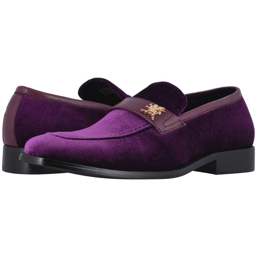 ステイシー アダムス Stacy Adams メンズ ローファー シューズ・靴【Bellino Velour Slip-On】Purple