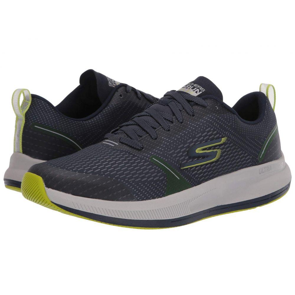 スケッチャーズ SKECHERS メンズ ランニング・ウォーキング シューズ・靴【Go Run Pulse】Navy/Lime