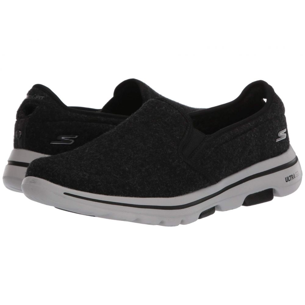 スケッチャーズ SKECHERS Performance メンズ スニーカー シューズ・靴【Go Walk 5 - Wash-A-Wool - Flint】Black/White