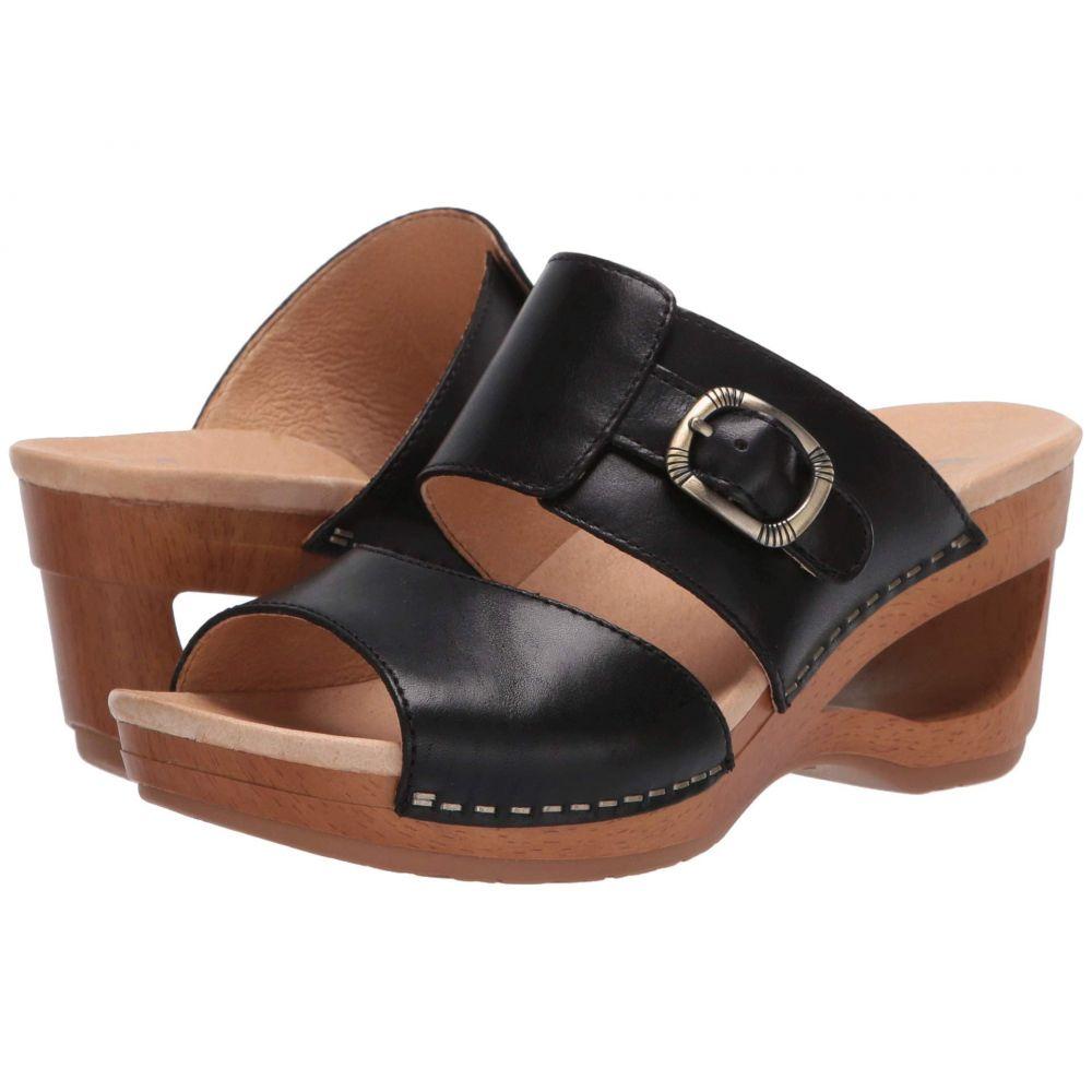 ダンスコ Dansko レディース サンダル・ミュール シューズ・靴【Tawny】Black Waxy Calf