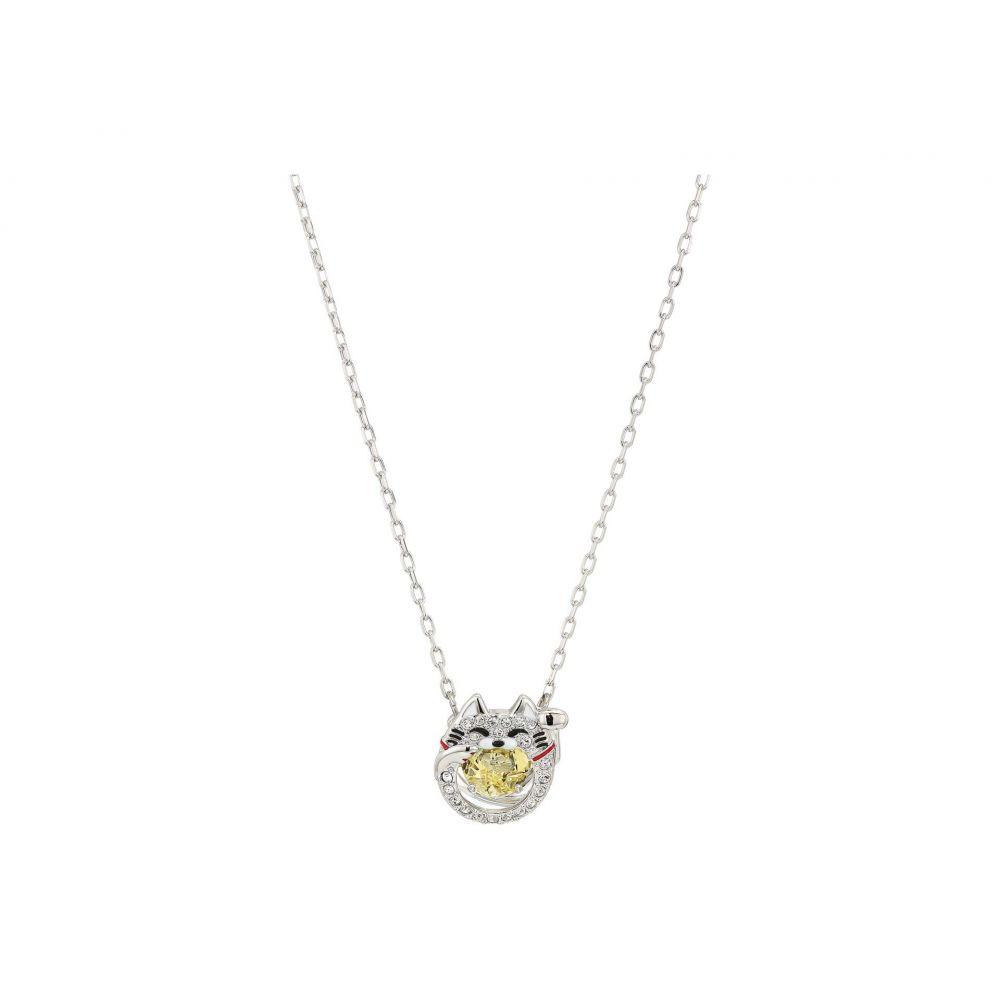 スワロフスキー Swarovski レディース ネックレス ジュエリー・アクセサリー【Sparkling Dance Cat Necklace】Ceramic Canary Yellow
