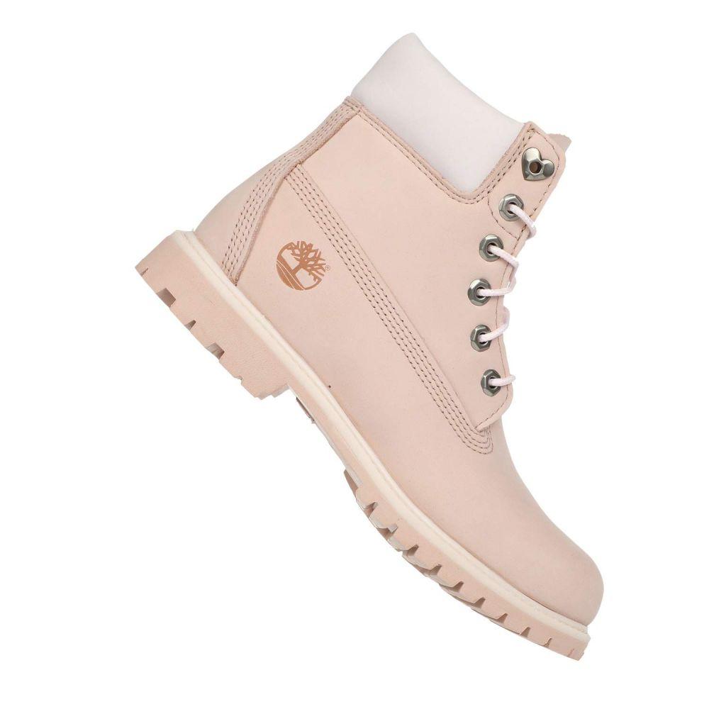 ティンバーランド Timberland レディース ブーツ シューズ・靴【6' Premium Boot】Light Pink Nubuck Love