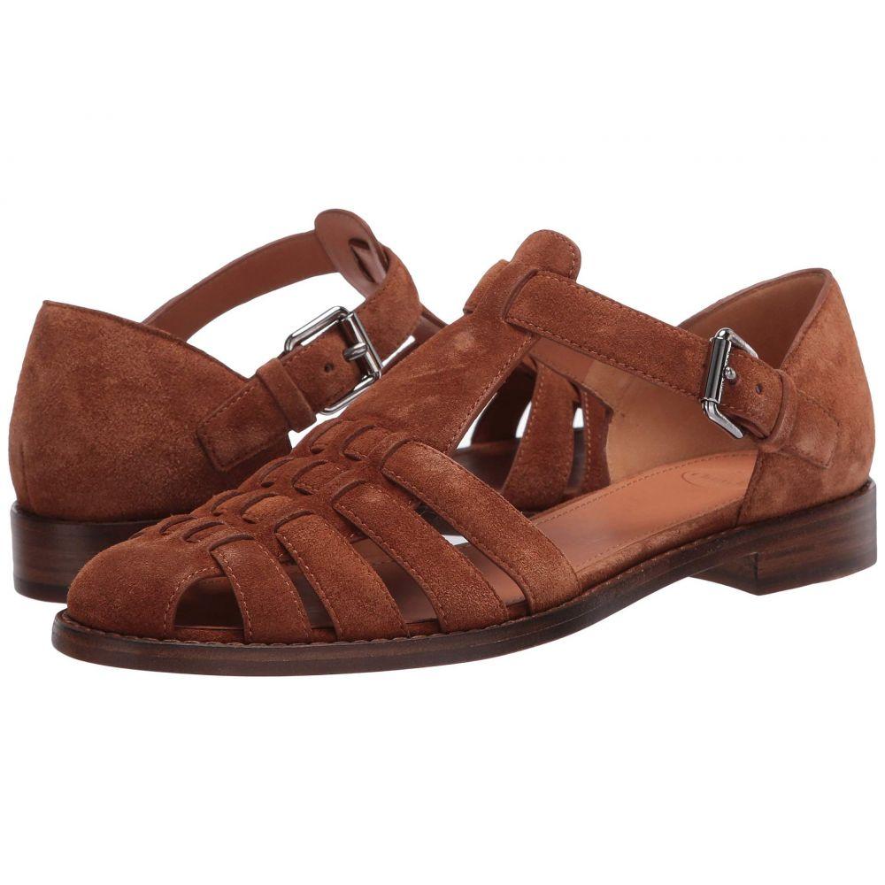チャーチ Church's レディース サンダル・ミュール シューズ・靴【Kelsey Sandal】Tabac Suede