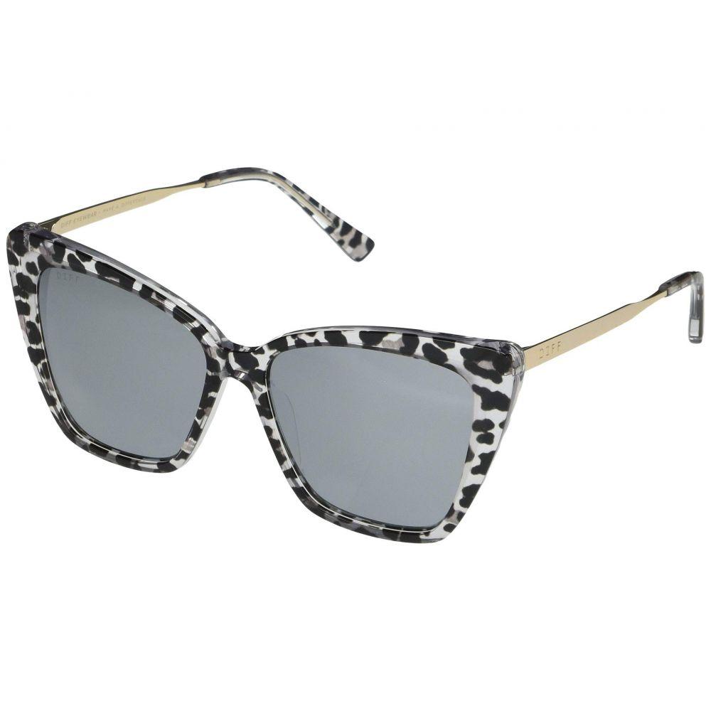 ディフアイウェア DIFF Eyewear レディース メガネ・サングラス 【Becky II】Clear Leopard/Grey