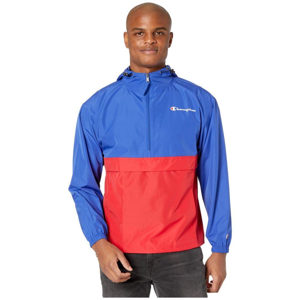 チャンピオン Champion メンズ ジャケット アウター【Colorblocked Packable Jacket】Surf the Web/Scarlet