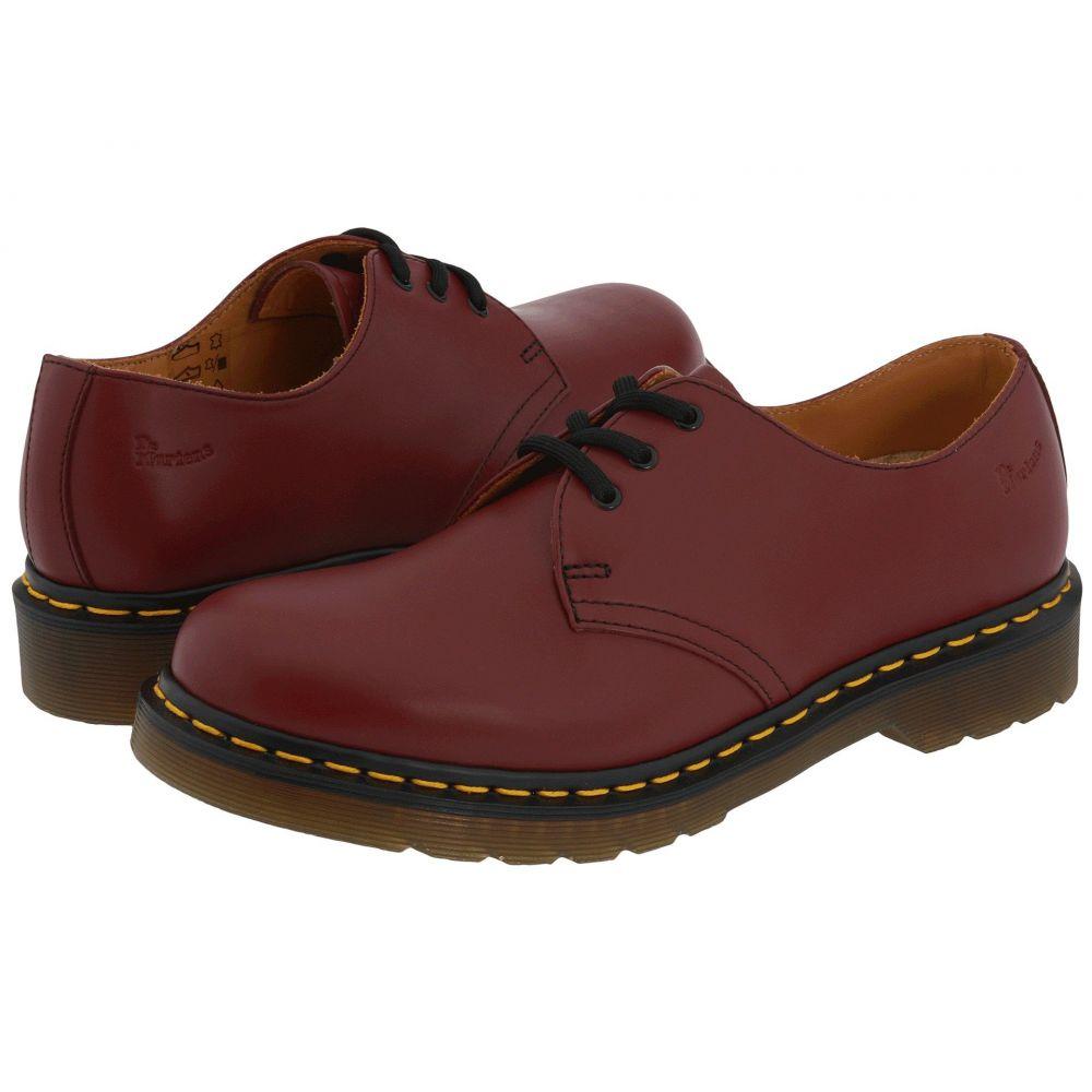 ドクターマーチン Dr. Martens レディース ローファー・オックスフォード シューズ・靴【1461 3-Eye Gibson】Cherry Red Smooth