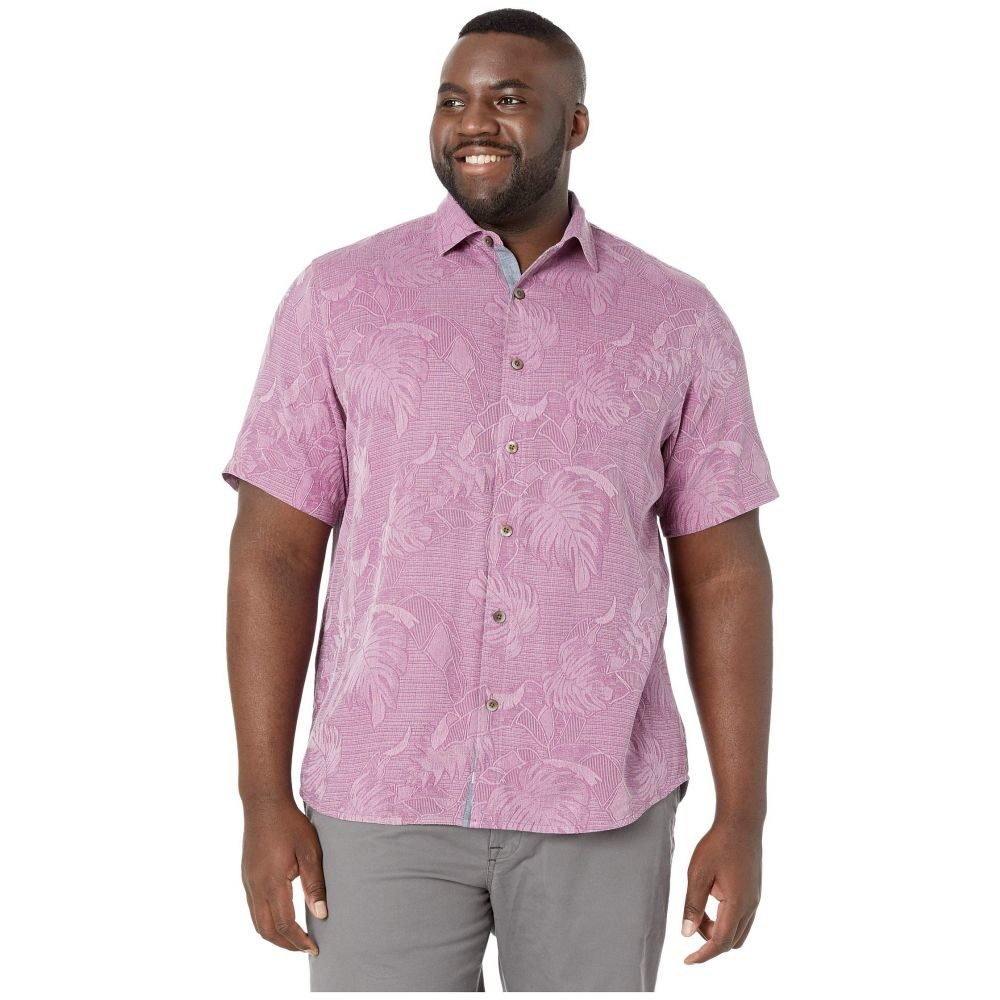 トミー バハマ Tommy Bahama Big & Tall メンズ シャツ 大きいサイズ トップス【Big & Tall Lahaina Leaves Shirt】Moonlight Mauve