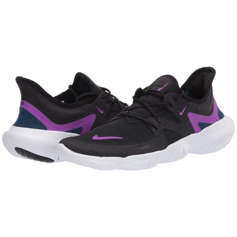 ナイキ Nike レディース ランニング・ウォーキング シューズ・靴【Free RN 5.0】Black/Vivid Purple/Valerian Blue
