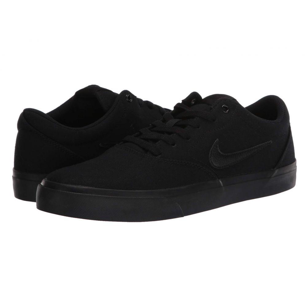 ナイキ Nike SB メンズ スニーカー シューズ・靴【Charge Solarsoft Canvas】Black/Black