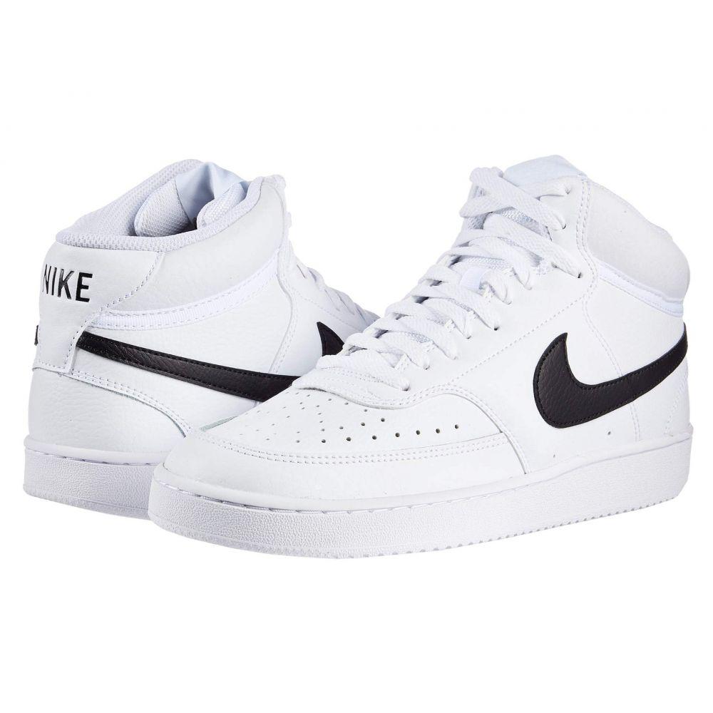 ナイキ Nike メンズ スニーカー シューズ・靴【Court Vision Mid】White/Black/White