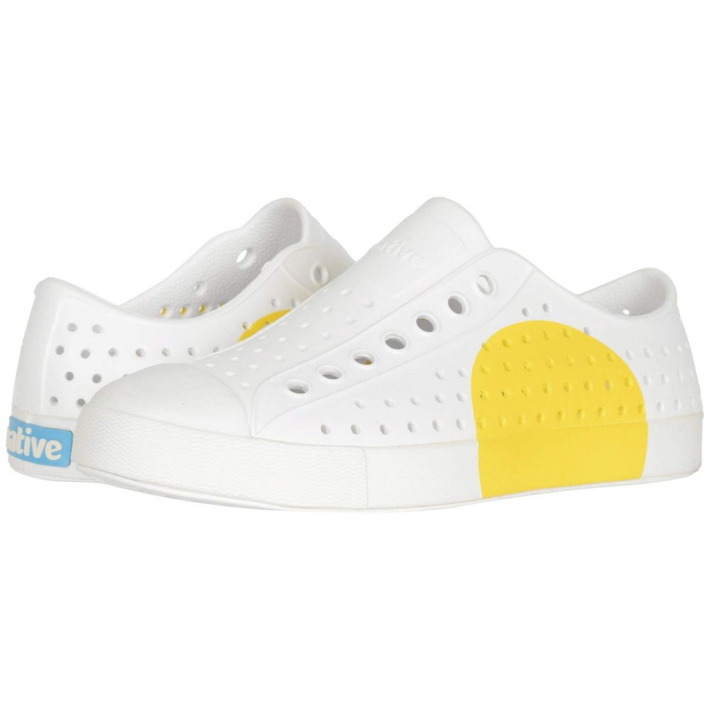 ネイティブ シューズ Native Shoes レディース スニーカー シューズ・靴【Jefferson Block】Shell White/Shell White/Crayon Circle