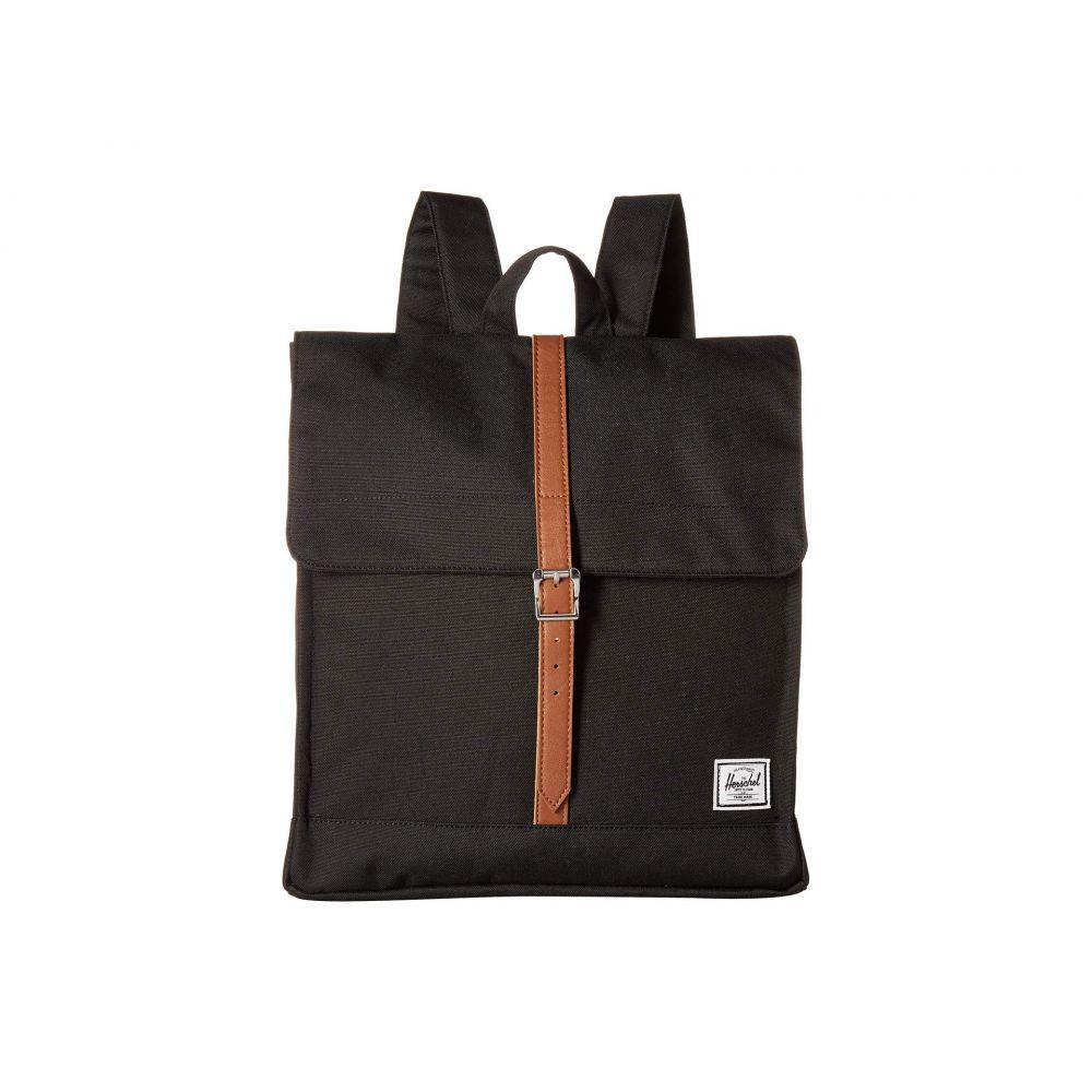 ハーシェル サプライ Herschel Supply Co. レディース バックパック・リュック バッグ【City Mid-Volume】Black/Tan Synthetic Leather
