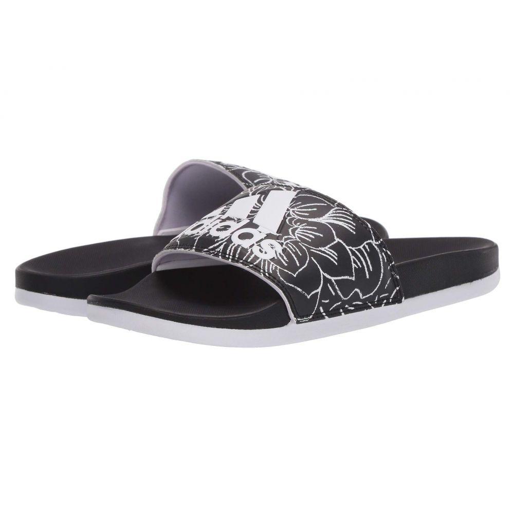 アディダス adidas レディース サンダル・ミュール シューズ・靴【Adilette Comfort】Core Black/Footwear White/Purple Tint
