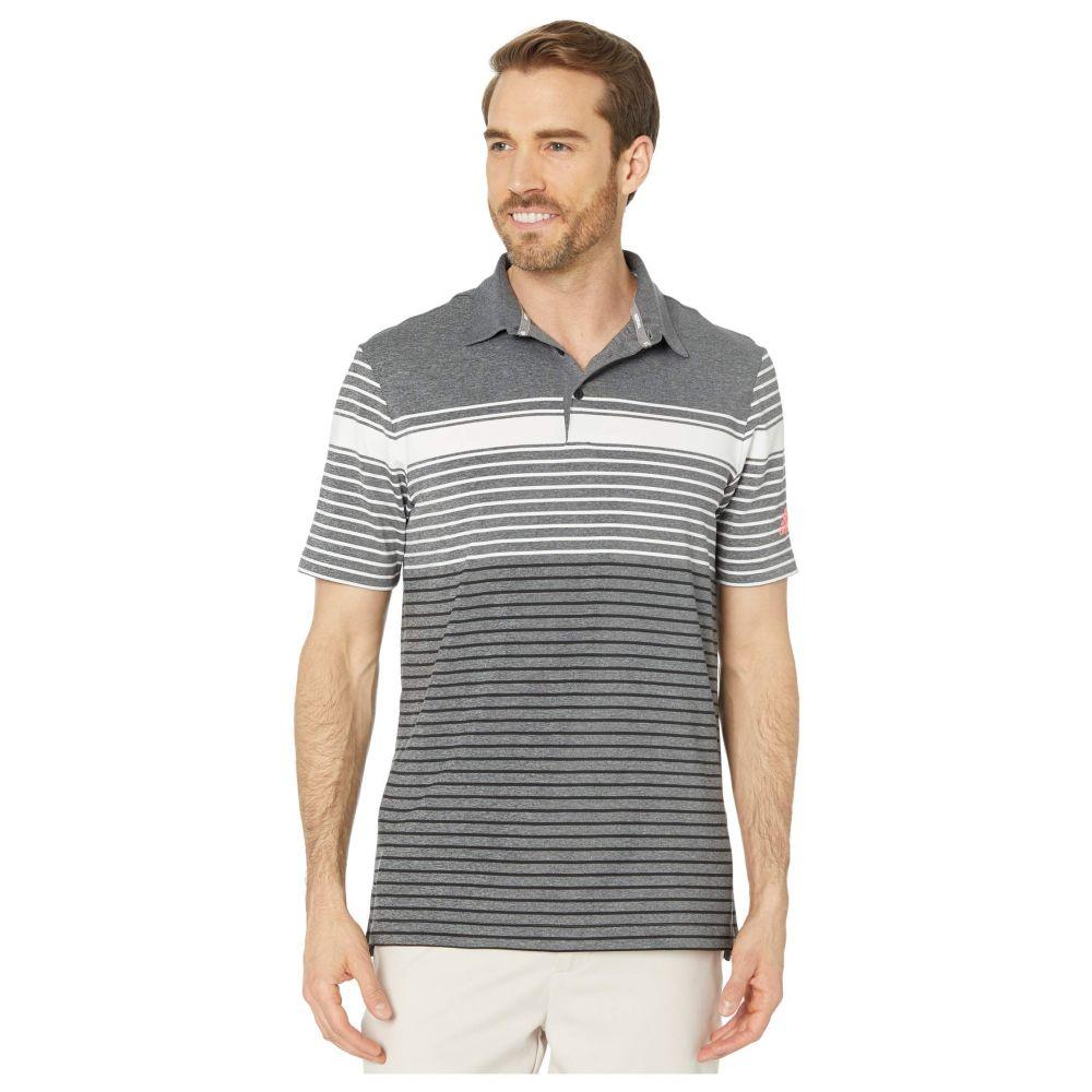アディダス adidas Golf メンズ ポロシャツ トップス【Ultimate365 Engineered Heathered Polo Shirt】White/Black/Black Melange