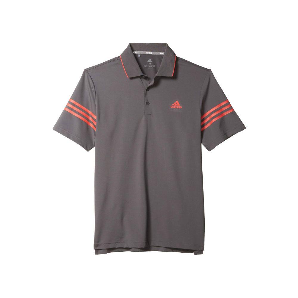 アディダス adidas Golf メンズ ポロシャツ トップス【Ultimate365 Blocked Polo Shirt】Grey Five/Real Coral