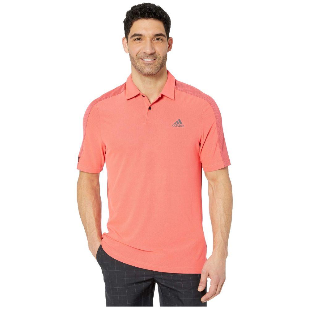 アディダス adidas Golf メンズ ポロシャツ トップス【Sport Aeroready Polo Shirt】Flash Red/Black