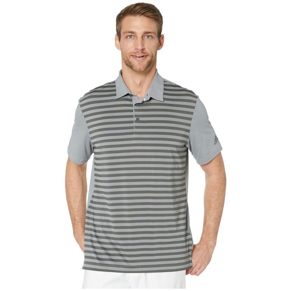 アディダス adidas Golf メンズ ポロシャツ トップス【Ultimate365 Wide Stripe Polo Shirt】Grey Three/Grey Six