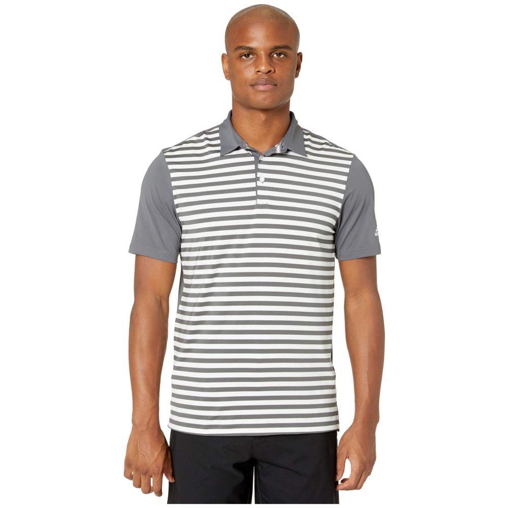 アディダス adidas Golf メンズ ポロシャツ トップス【Ultimate365 Wide Stripe Polo Shirt】Grey Five/White