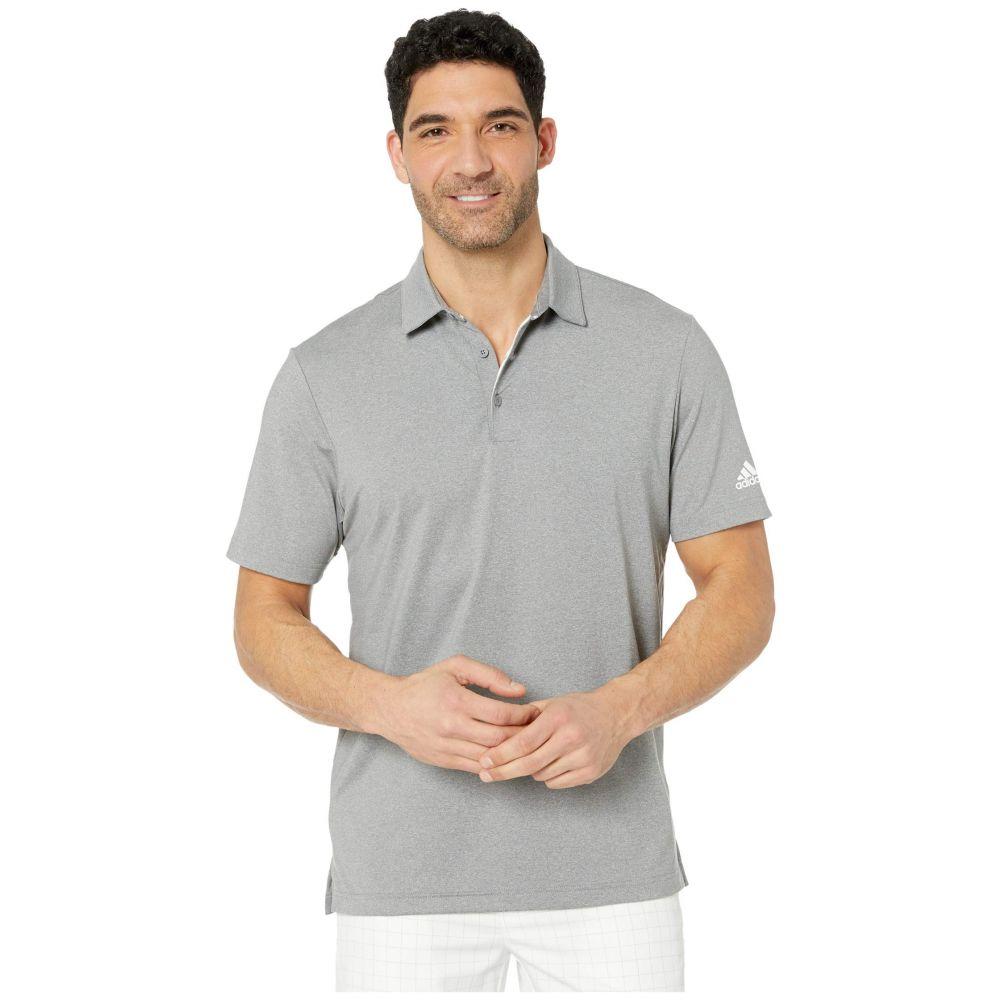 アディダス adidas Golf メンズ ポロシャツ トップス【Ultimate 2.0 Heather Polo】Grey Three Heather/White