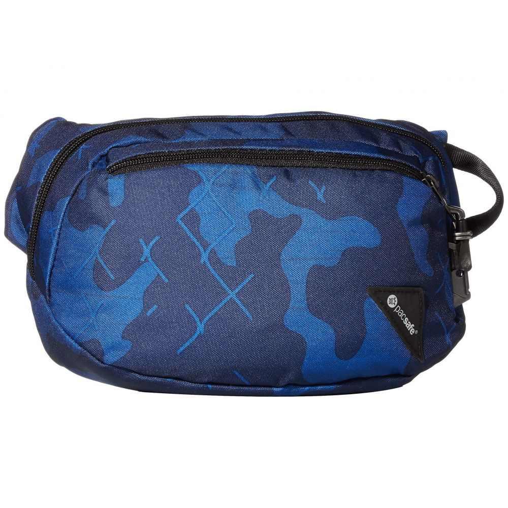 パックセーフ Pacsafe レディース ボディバッグ・ウエストポーチ バッグ【Vibe 100 Anti-Theft Hip and Crossbody Pack】Blue Camo