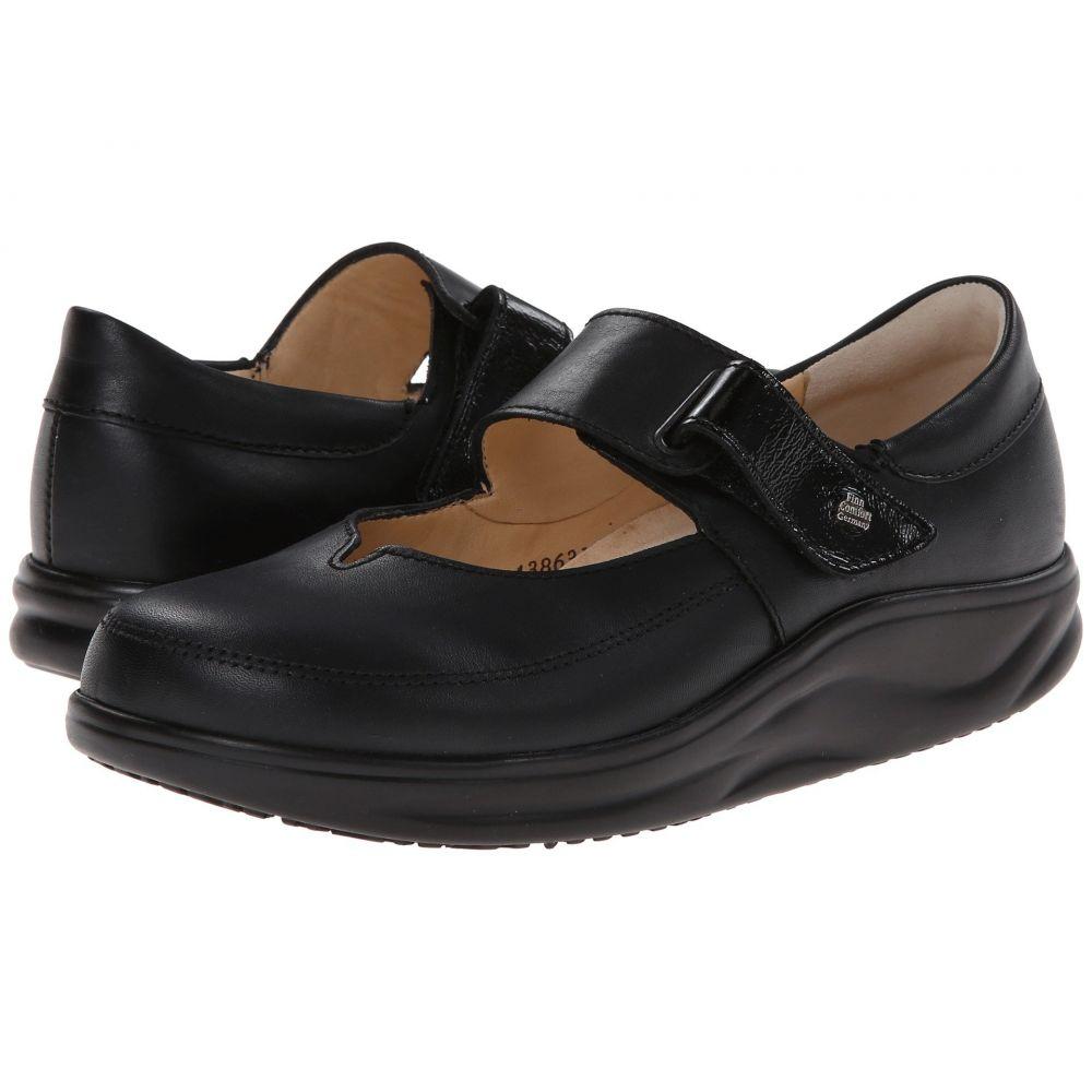 フィンコンフォート Finn Comfort レディース スリッポン・フラット シューズ・靴【Nagasaki】Black Nappa/Patent