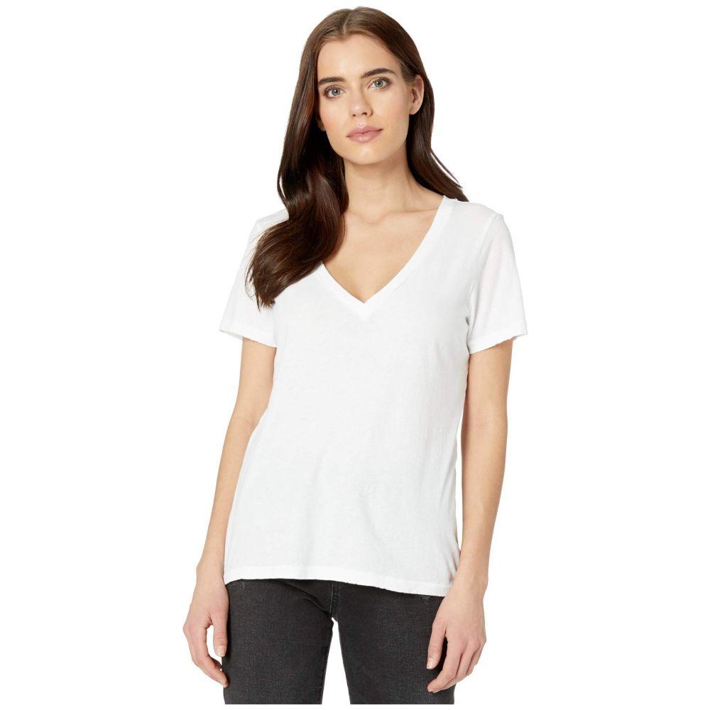 フィランソロピー n:philanthropy レディース Tシャツ Vネック トップス【Mack V-Neck T-Shirt】White