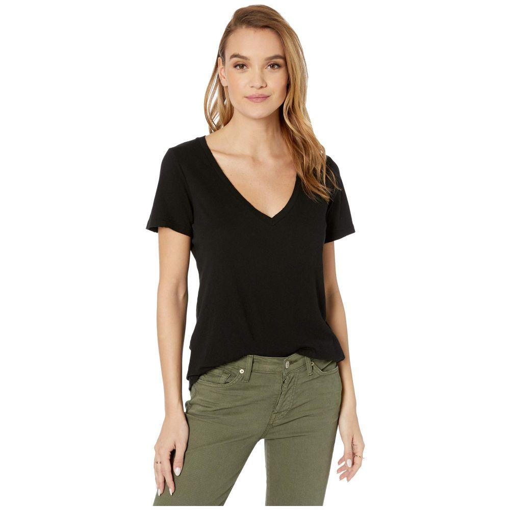 フィランソロピー n:philanthropy レディース Tシャツ Vネック トップス【Mack V-Neck T-Shirt】Black