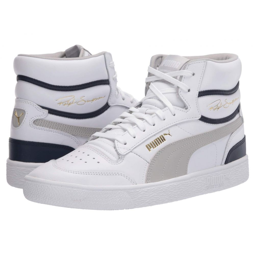 プーマ PUMA メンズ スニーカー シューズ・靴【Ralph Sampson Mid】Puma White/Gray Violet/Peacoat