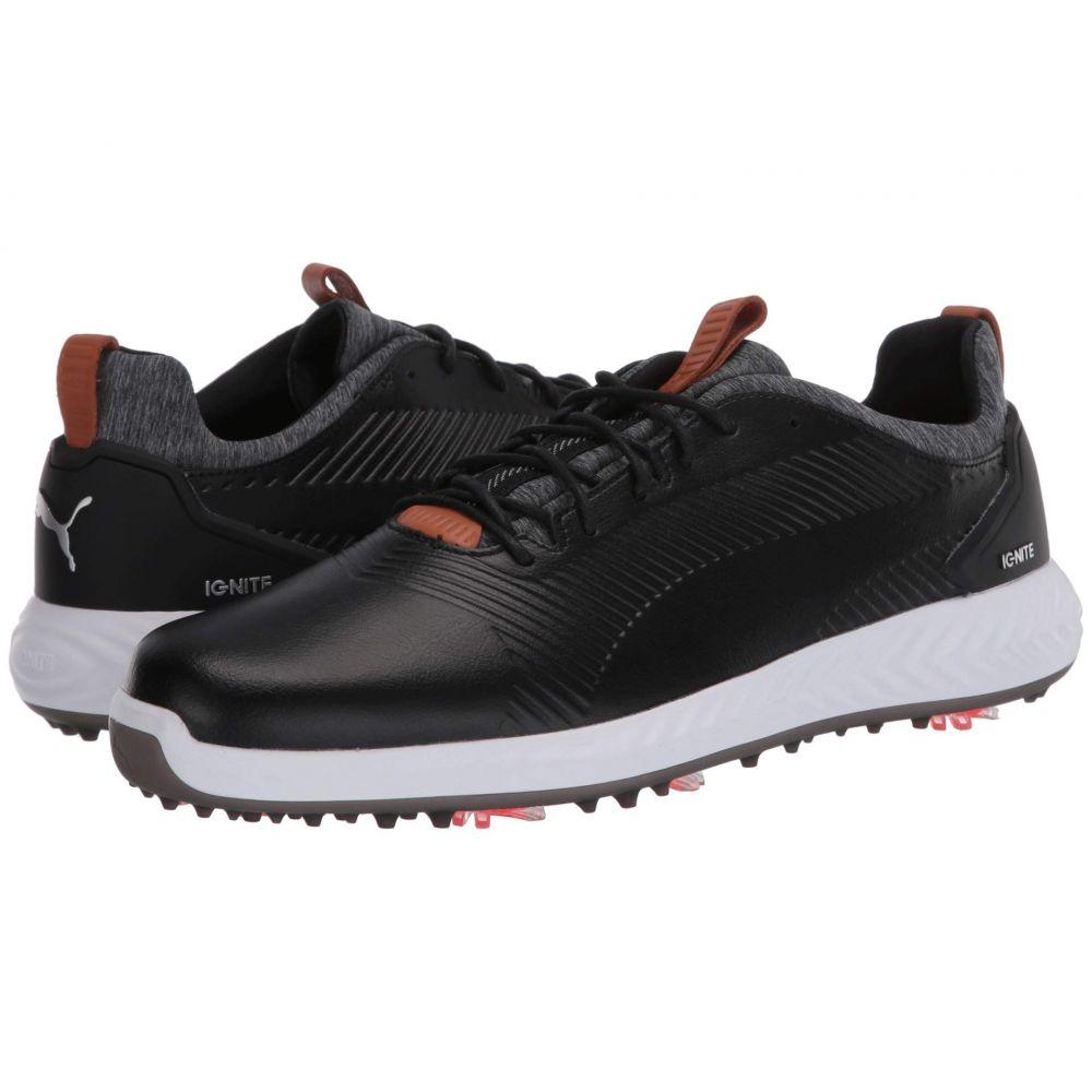 プーマ PUMA Golf メンズ スニーカー シューズ・靴【Ignite PwrAdapt Leather 2.0】Puma Black/Puma Black