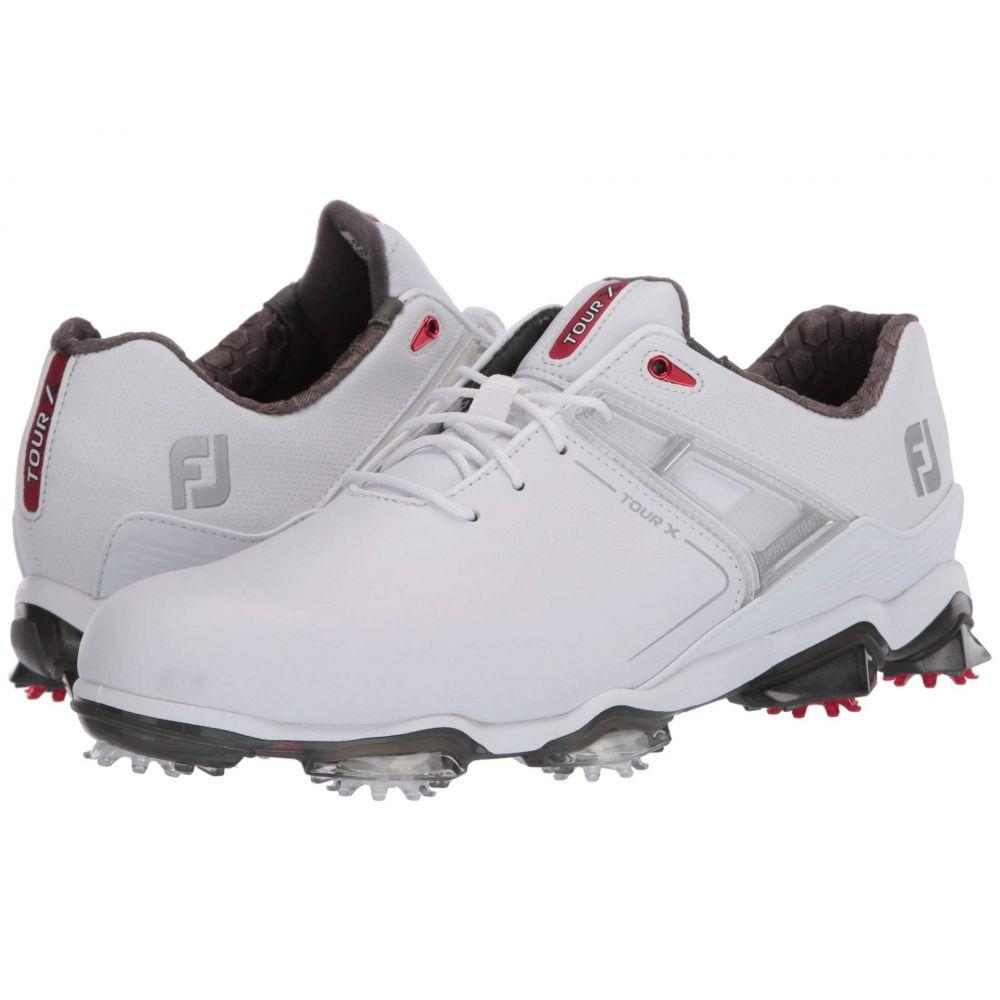フットジョイ FootJoy メンズ スニーカー シューズ・靴【Tour X】White/Red Trim