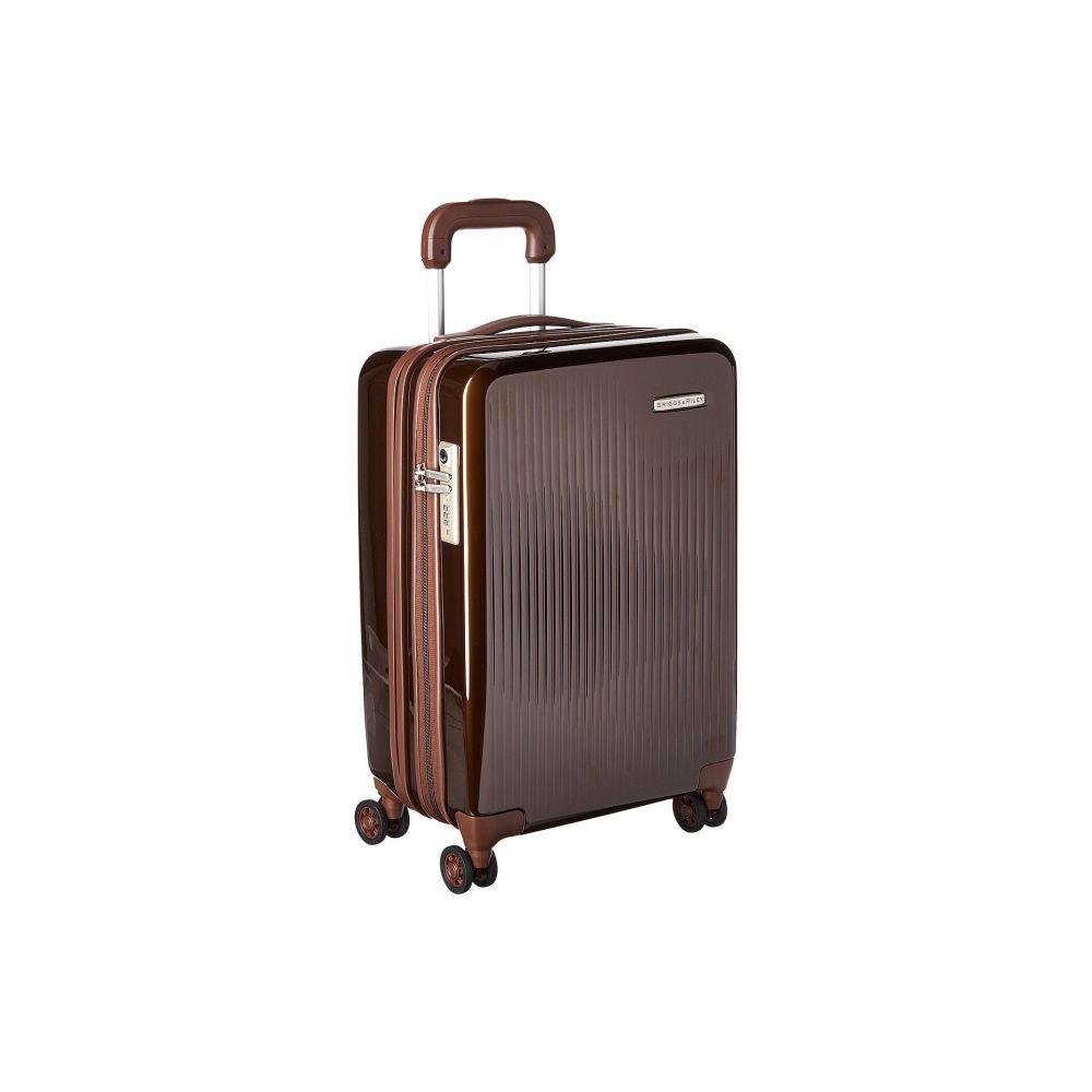 ブリッグスアンドライリー Briggs & Riley レディース スーツケース・キャリーバッグ バッグ【Sympatico - Domestic Carry-On Expandable Spinner】Bronze