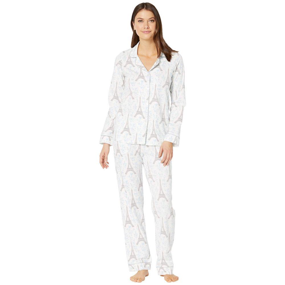 ベッドヘッド BedHead Pajamas レディース パジャマ・上下セット インナー・下着【Long Sleeve Classic Notch Collar Pajama Set】Blue Eiffel