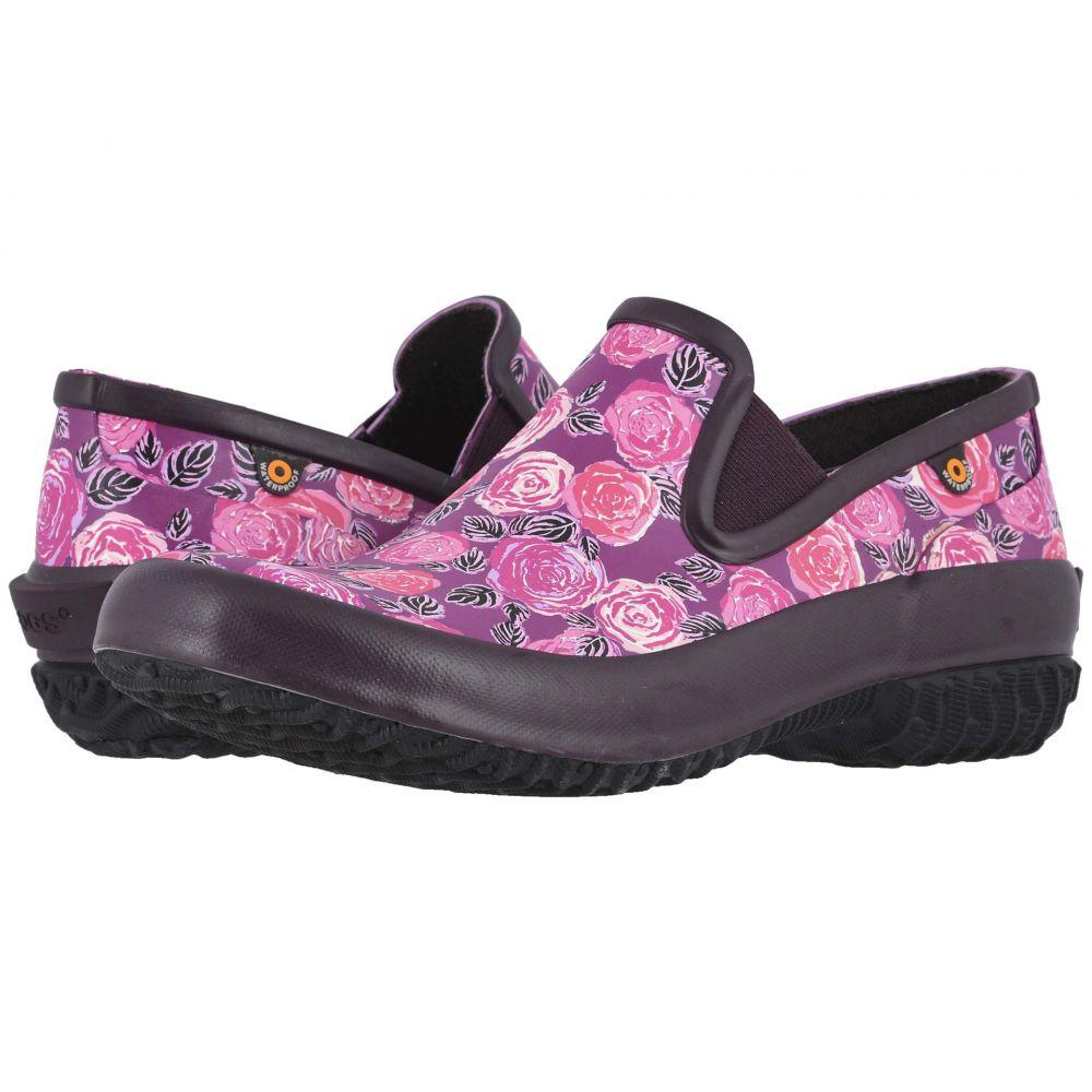 ボグス Bogs レディース スリッポン・フラット シューズ・靴【Patch Slip-On Water Rose】Plum Multi