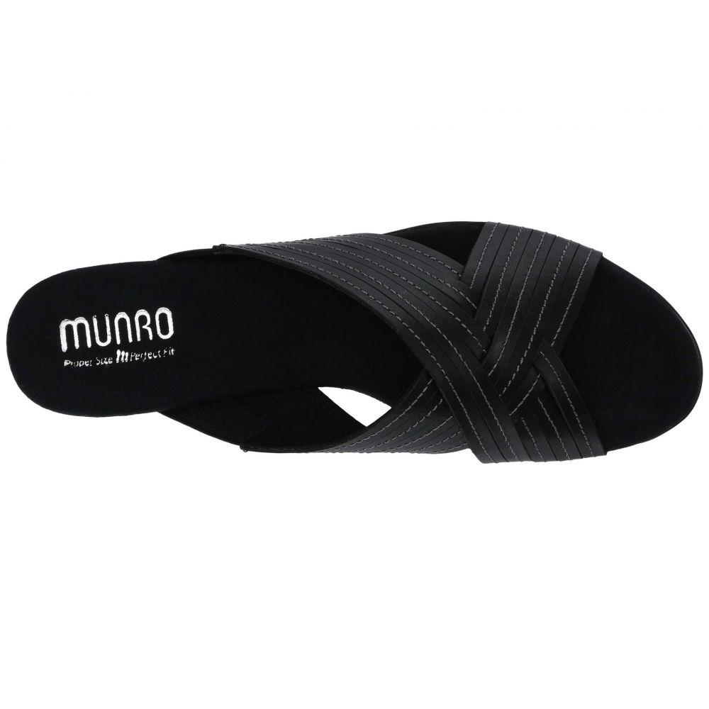 マンロー Munro レディース サンダル・ミュール シューズ・靴 Kelsey Black LeatherqL5Aj34R