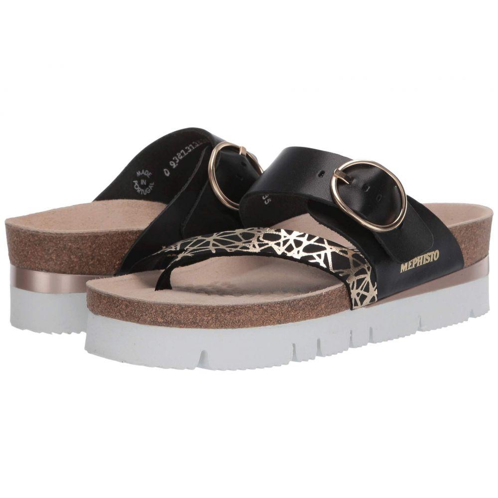メフィスト Mephisto レディース サンダル・ミュール シューズ・靴【Vik】Black Graphic/Sandal Nylon