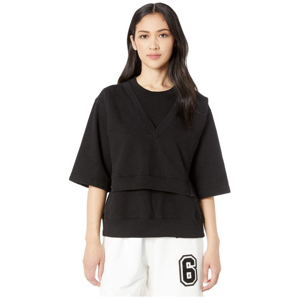 メゾン マルジェラ MM6 Maison Margiela レディース Tシャツ トップス【Modular Apron Detail Margiela T-Shirt】Black