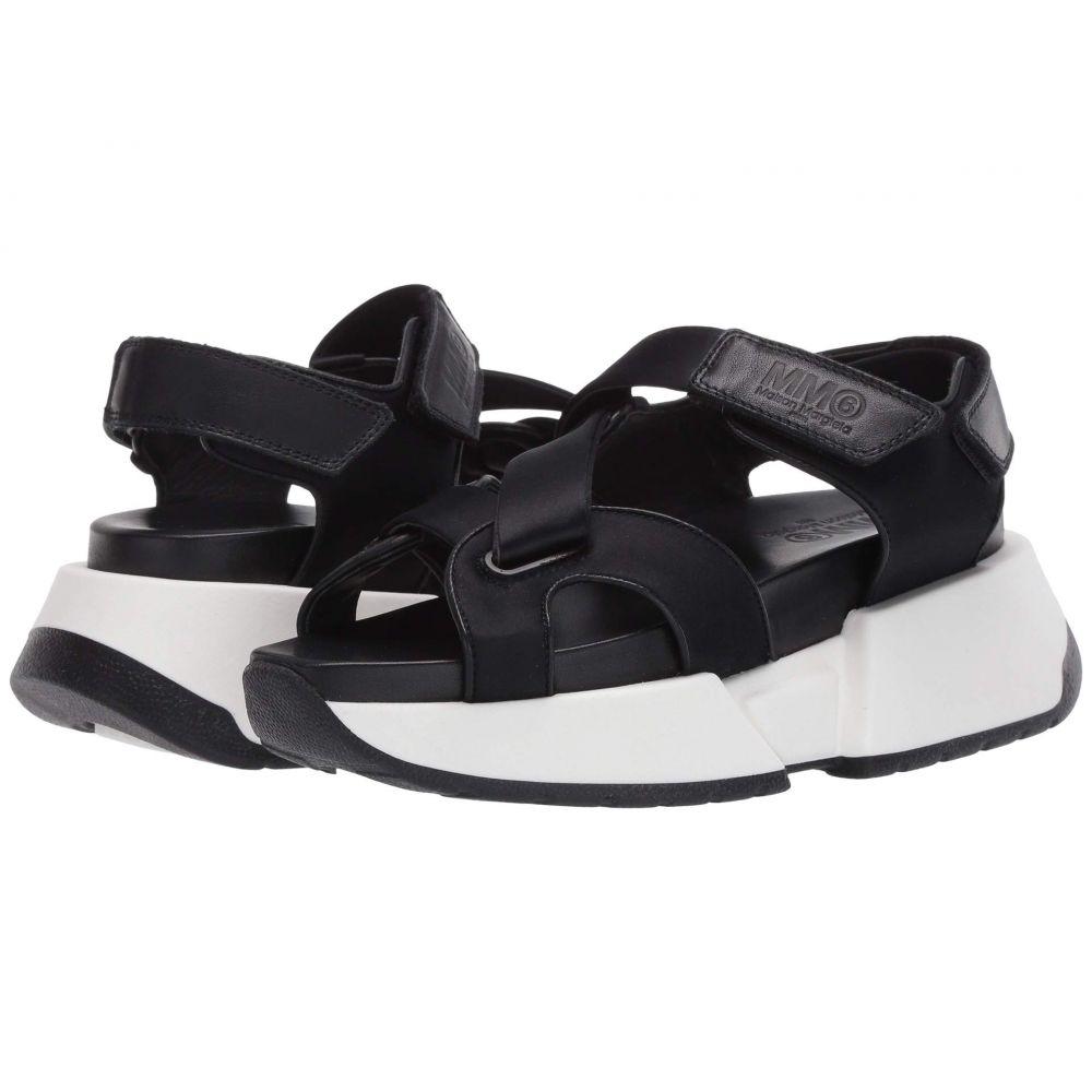 メゾン マルジェラ MM6 Maison Margiela レディース サンダル・ミュール シューズ・靴【Sporty Sneaker Sole Sandal】Black