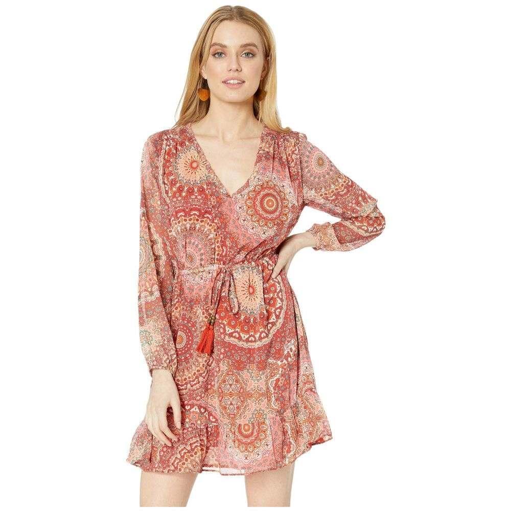 ミス ミー Miss Me レディース ワンピース ワンピース・ドレス【Paisley Print Long Sleeve Dress】Cherry Red