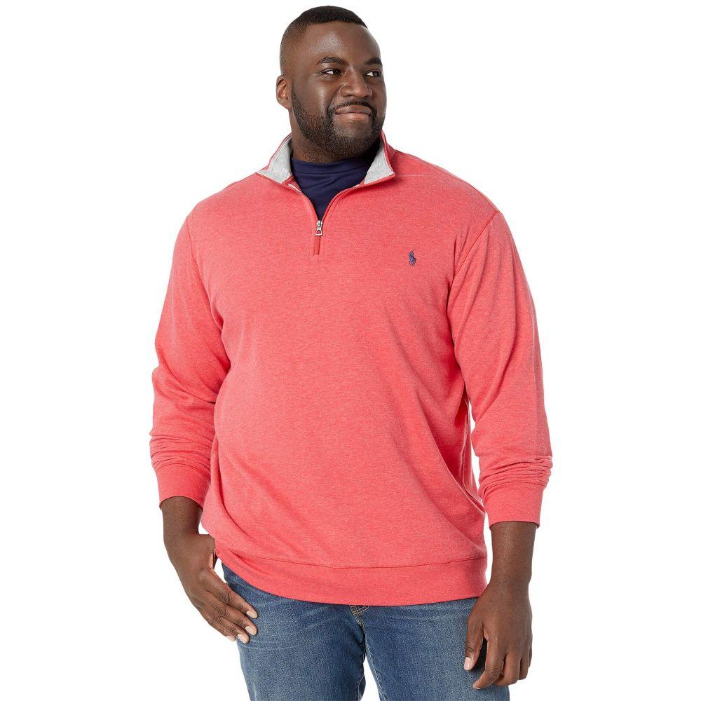 ラルフ ローレン Polo Ralph Lauren Big & Tall メンズ ポロシャツ ハーフジップ 大きいサイズ トップス【Big & Tall Luxury Jersey 1/2 Zip】Rosette Heather