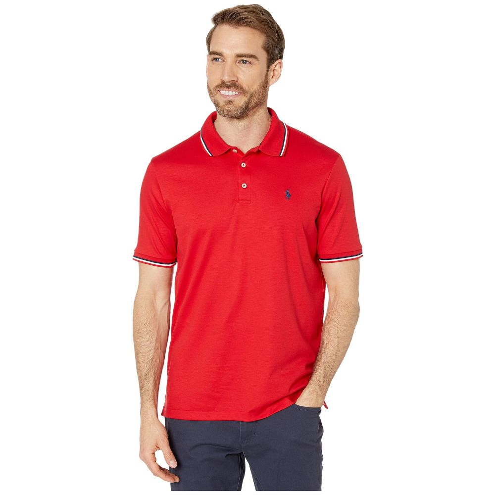 ラルフ ローレン Polo Ralph Lauren メンズ ポロシャツ トップス【Classic Fit Tipped Soft Touch Polo】RL Red Multi