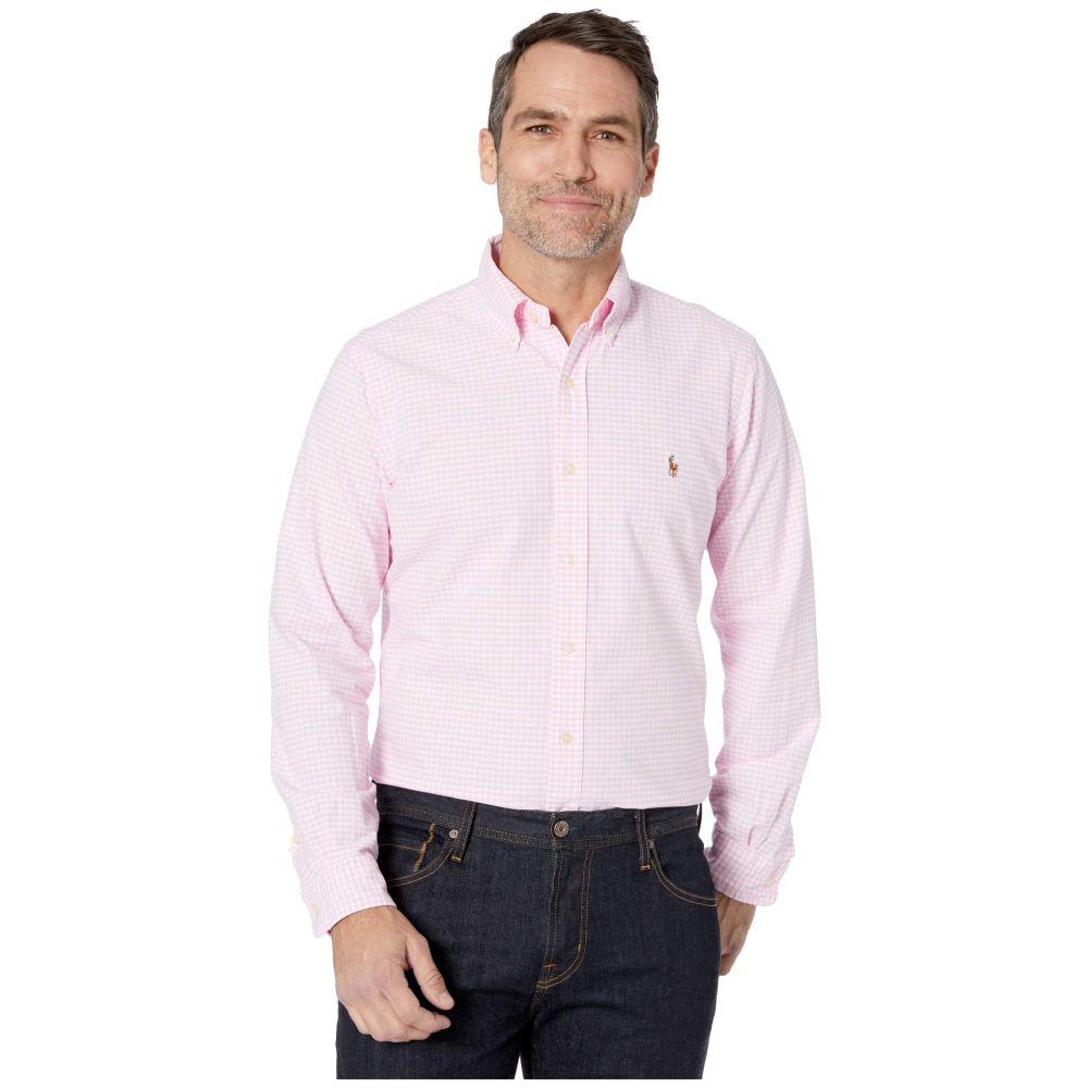 ラルフ ローレン Polo Ralph Lauren メンズ シャツ トップス【Classic Fit Long Sleeve Oxford Shirt】Pink/White