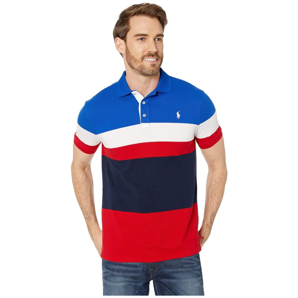 ラルフ ローレン Polo Ralph Lauren メンズ ポロシャツ トップス【Slim Fit Color Block Mesh Polo】RL Red Multi