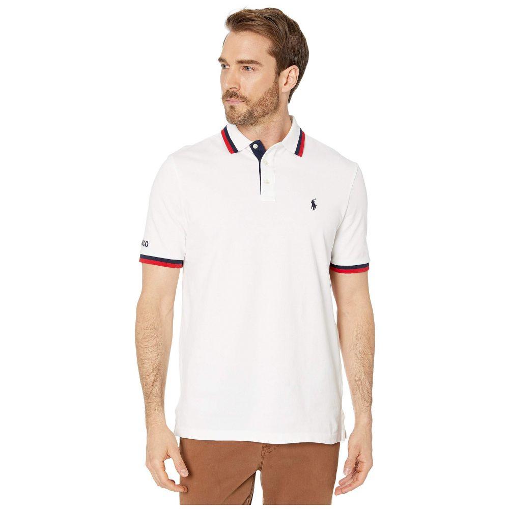 ラルフ ローレン Polo Ralph Lauren メンズ ポロシャツ トップス【Classic Fit Americana Mesh Polo】White Multi