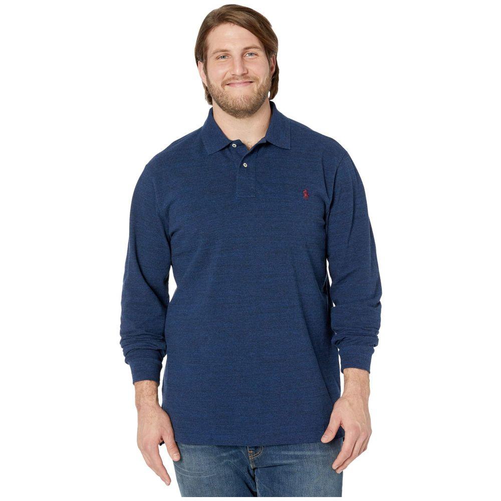 ラルフ ローレン Polo Ralph Lauren Big & Tall メンズ ポロシャツ 大きいサイズ トップス【Big & Tall Long Sleeve Solid Mesh】Monroe Blue Heather