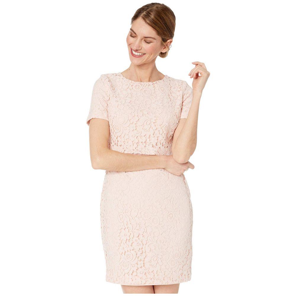 ラルフ ローレン LAUREN Ralph Lauren レディース ワンピース ワンピース・ドレス【Petite Lace Popover Dress】Pink Macaron