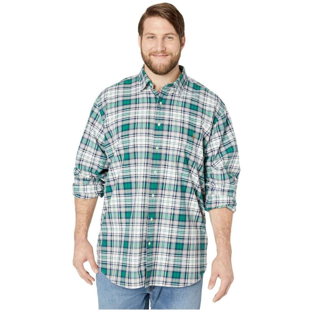 ラルフ ローレン Polo Ralph Lauren Big & Tall メンズ シャツ 大きいサイズ トップス【Big & Tall Long Sleeve Classic Fit Oxford Shirt】Grey/Green Multi