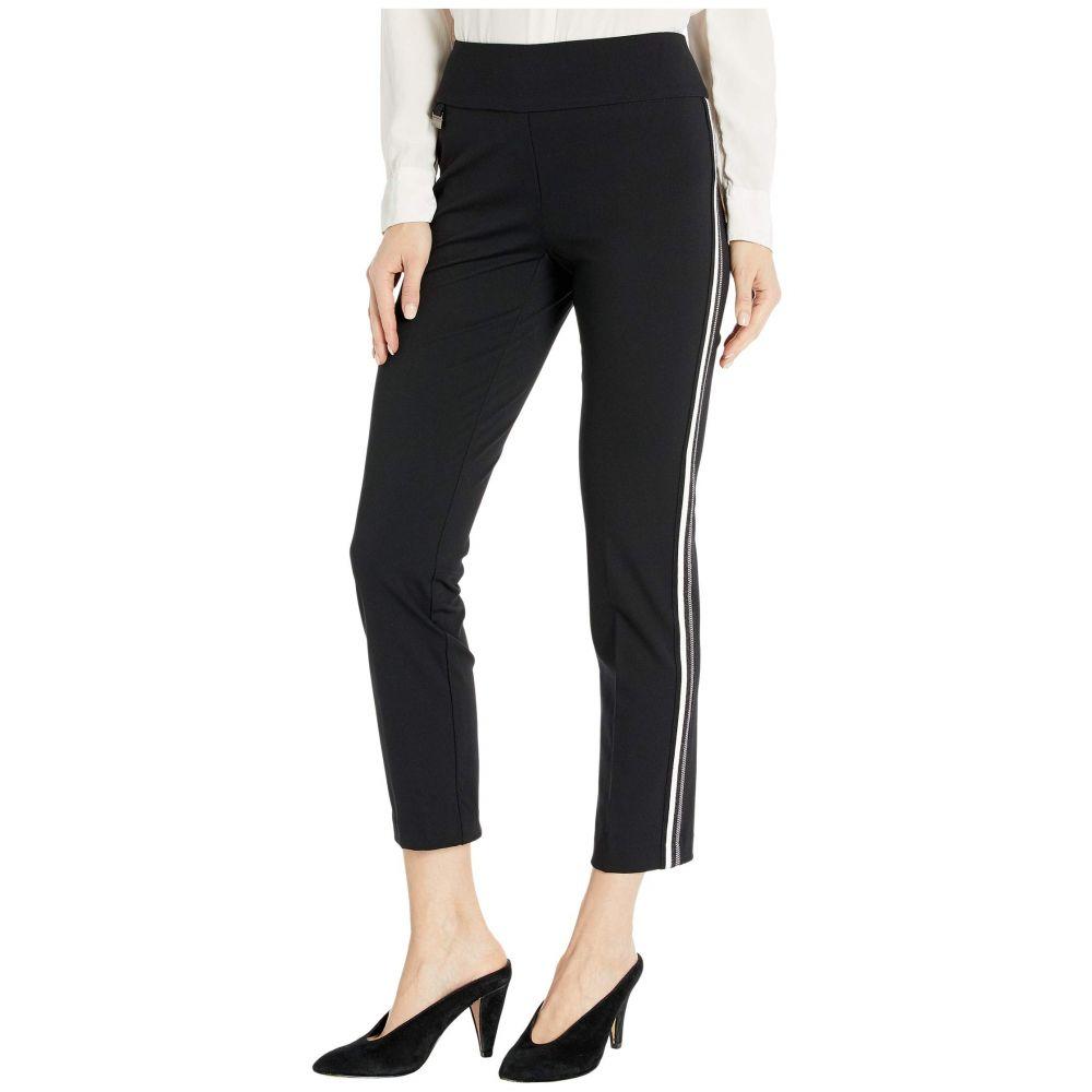 リゼッタ Lisette L Montreal レディース クロップド アンクル ボトムス・パンツ【Kathryne Fabric Pull-On Ankle Pants with Side Stripes】Black